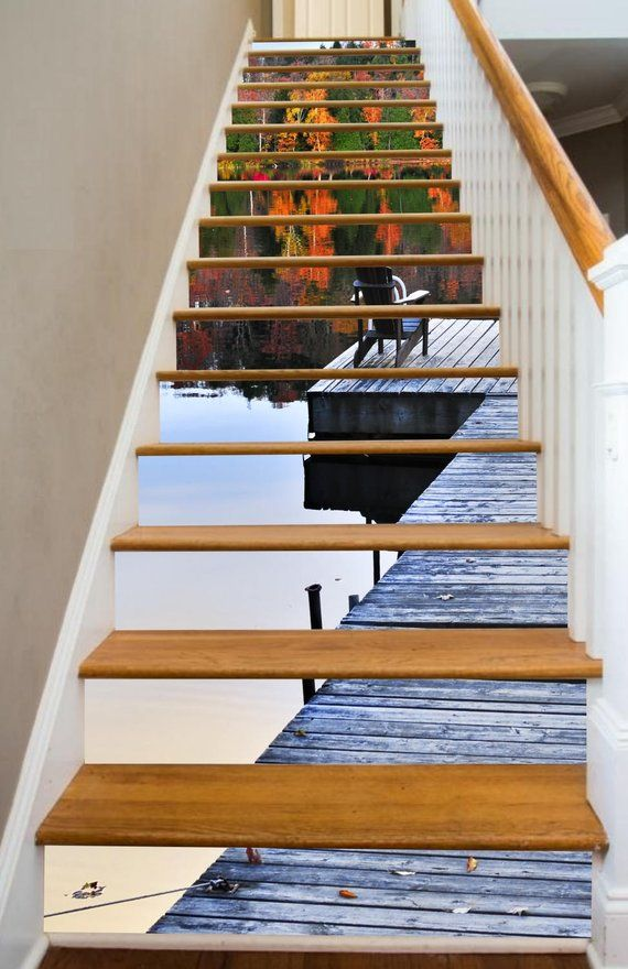 Lakeside Dreaming Stair Risers Stair Riser Decals Stairs