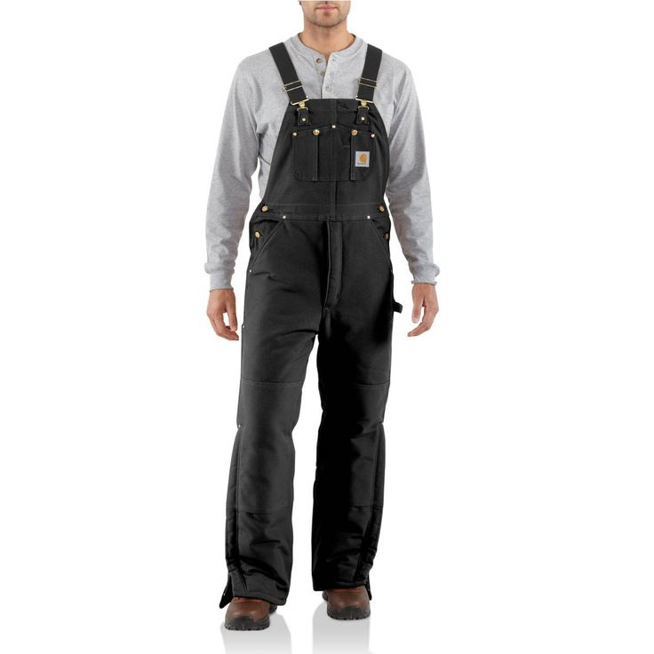 Carhartt Duck Bib Overall - Arctic-Quilt Lined | Free Shipping