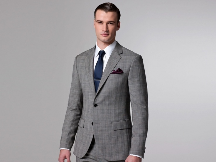 Essential Gray Prince Of Wales Suit