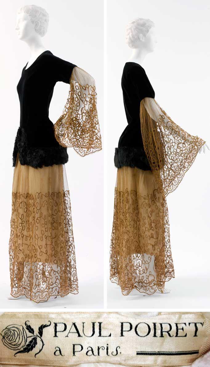 1924 Evening ensemble by Paul Poiret made of cotton, fur, metallic thread, and silk. Via Metropolitan Museum of Art