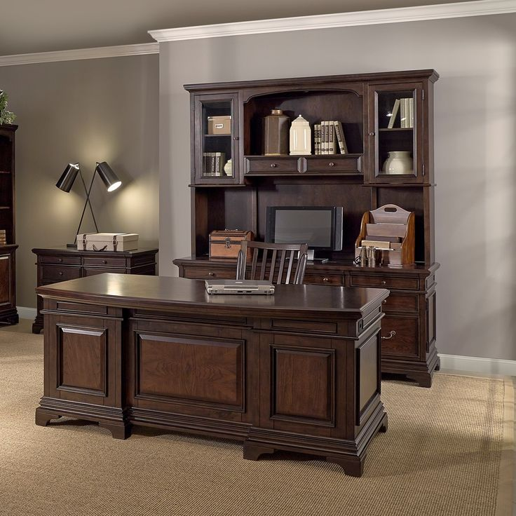 Emery Park Drake 72 Inch Executive Desk Credenza With