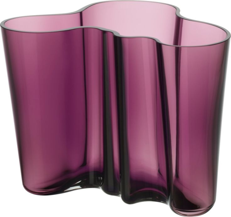 Iittala - Alvar Aalto Collection Vase 160 mm dark lilac - Iittala.com