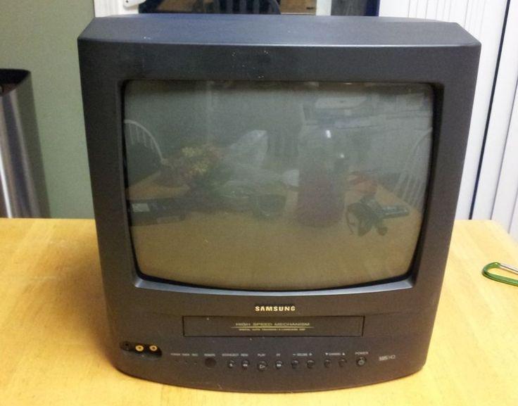 13 inch samsung tv vcr combo crt television cx01342. Black Bedroom Furniture Sets. Home Design Ideas