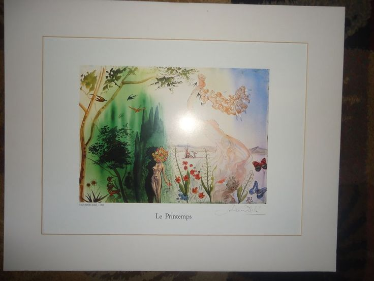 Salvador Dali Framed Print Le Printemps 1968  Italy 1984 Dali Raised Logo