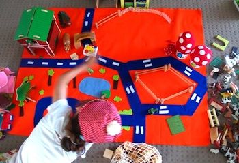 Design Your Own Felt Play Mat - Things to Make and Do, Crafts and Activities for Kids - The Crafty Crow