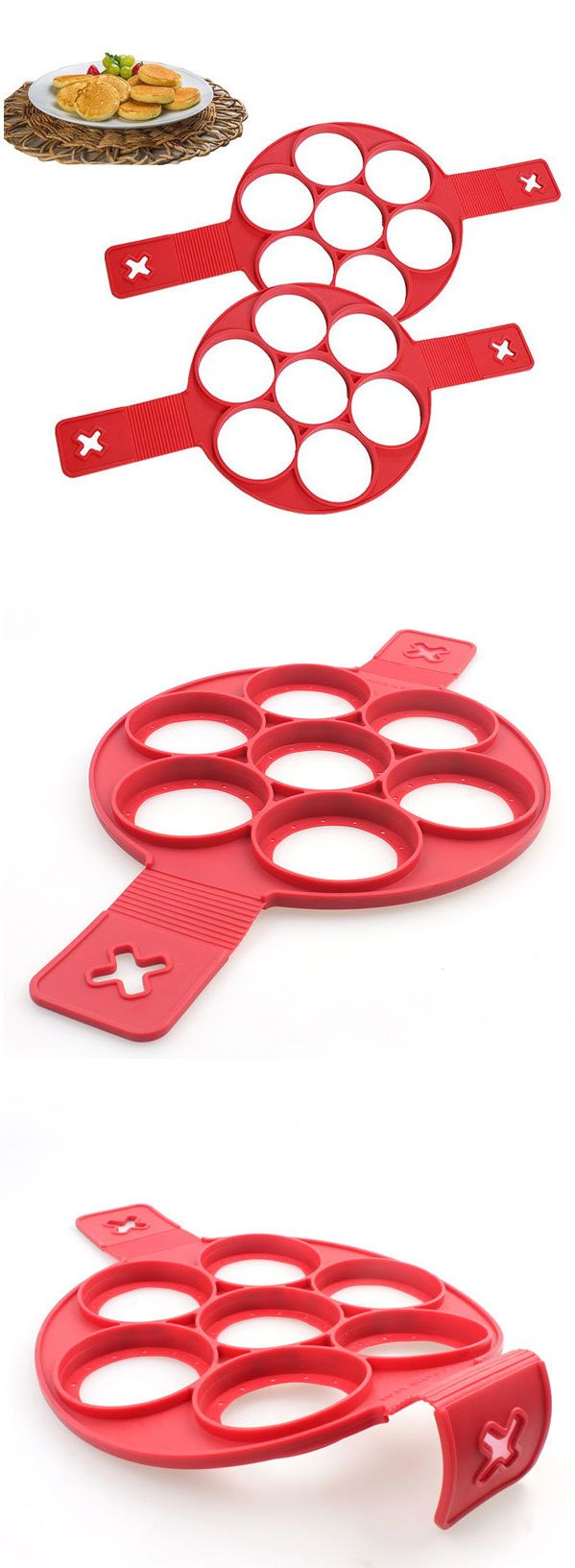 US$8.58 Silicone Perfect Pancake Mold Fantastic Non-stick Pancake Cake Omelette Mold Maker Egg Ring