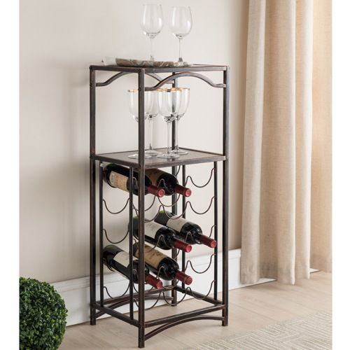 Make any area your party spot by placing this transitional wine rack in your kitchen, dining room or living space.
