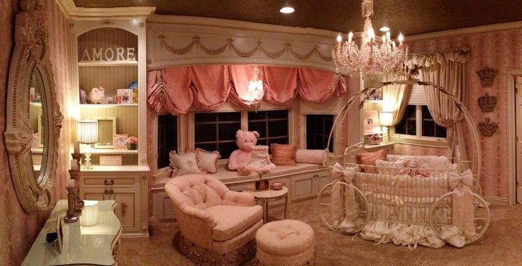 cinderella-bedroom-Nursery-Transitional-with-after-Baby-Room-beautiful - Comforter and Bedding