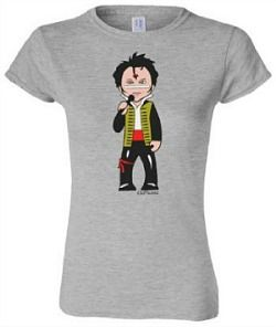 Adam Ant cartoon T-Shirt for ladies