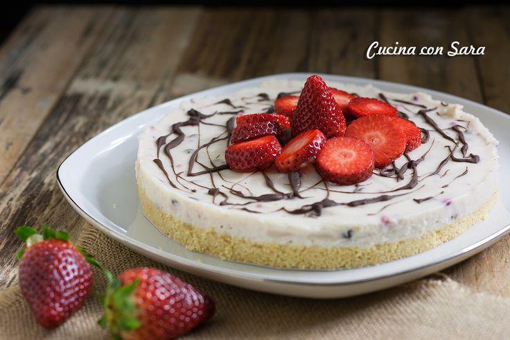 Cheesecake alle fragole, senza colla di pesce e senza cottura
