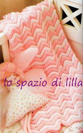 Copertina zig zag ai ferri per neonato / Knitted chevron baby blanket free pattern | lo spazio di lilla | Bloglovin'