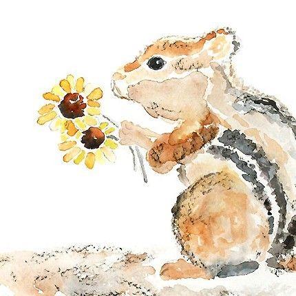 Whimsical Animal Print Nursery Woodland Art by LightheartedDreamer, $15.00