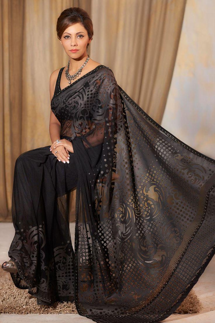 Shadow Saree - very regal!