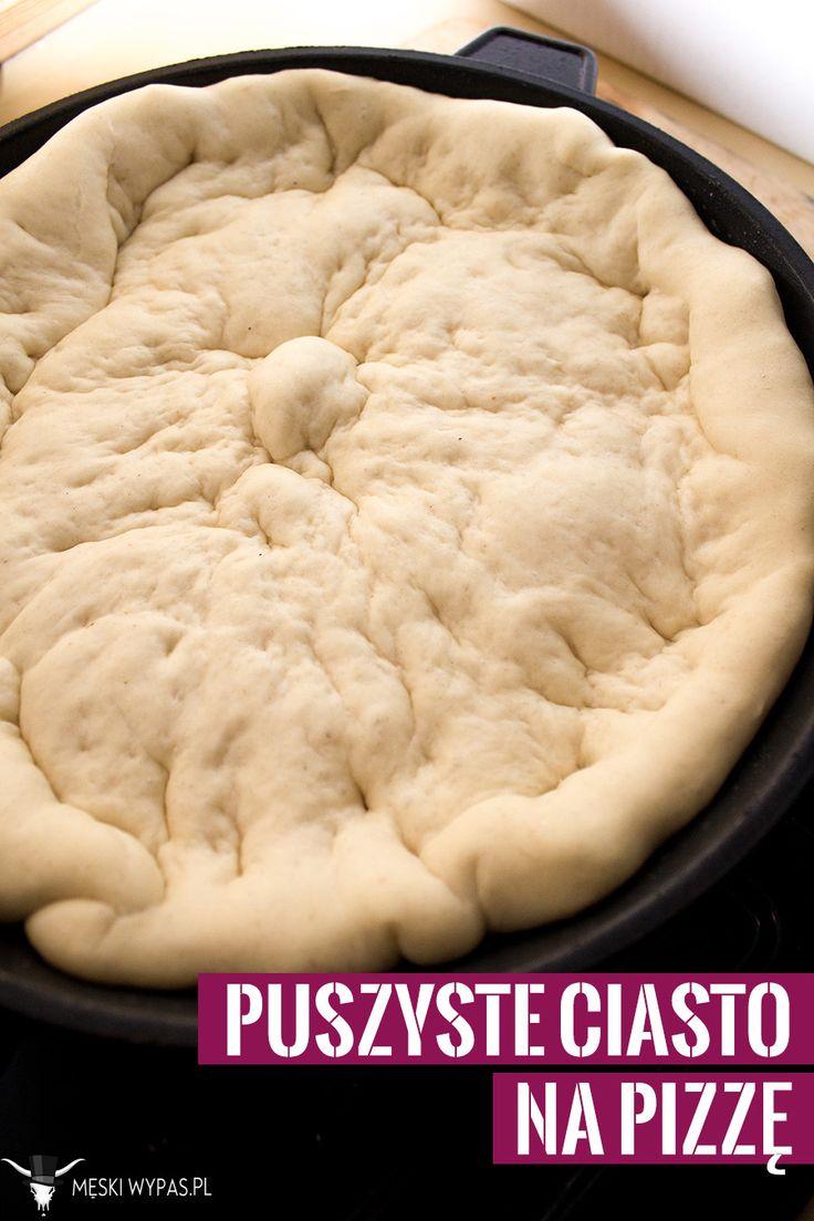 Przepis na puszyste ciasto na pizzę #pizza