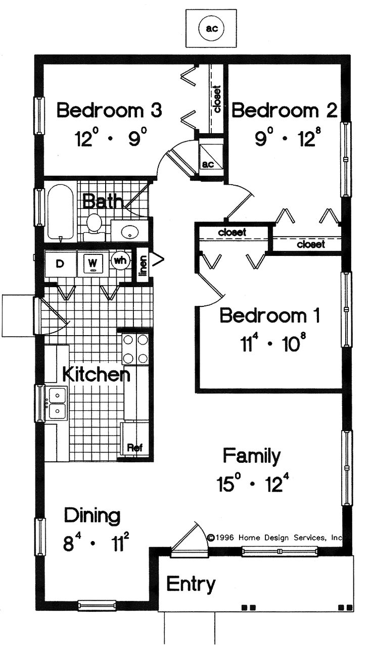 simple small house floor plans house plans pricing - Simple House Plan