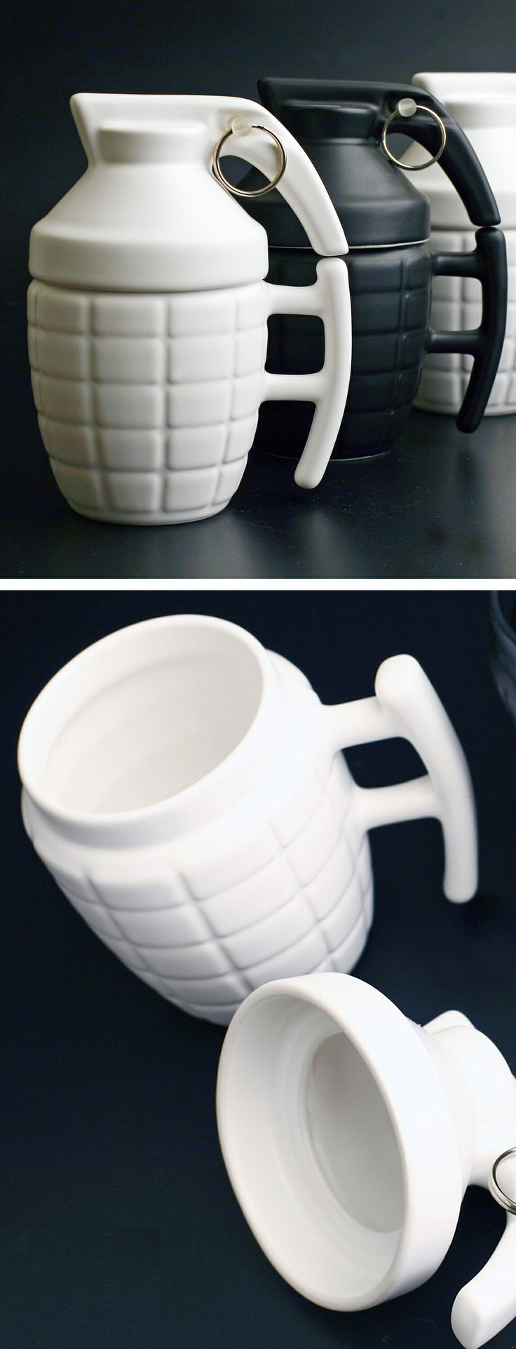 Grenade Mugs ... I can see Luke having this for his coffee!