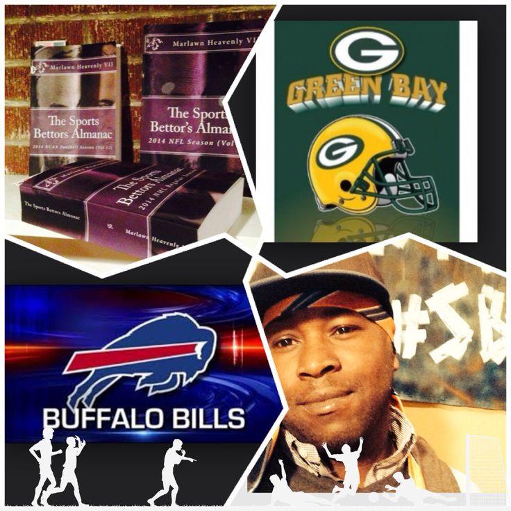 "12/14/14 NFL Sports Bettors Almanac Update: #GreenBay #Packers vs #Buffalo #Bills (Take: Bills +4.5,Over 50.5)SPORTS BETTING ADVICE  On  99% of regular season games ATS including Over/Under   ""The Sports Bettors Almanac"" available at www.Amazon.com  TIPS ARE WELCOME :  PayPal - SportyNerd@ymail.com   Marlawn Heavenly VII    #NFL #MLB #NHL #NBA #NCAAB #NCAAF #LasVegas #Football #Basketball #Baseball #Hockey #SBA #401k #Business #Entrepreneur #Investing  #Tech  #Dj  #Networking #Analytics…"