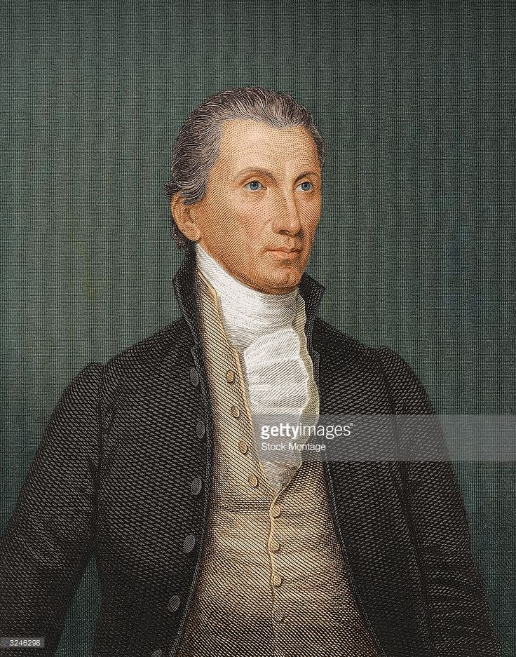 James Monroe (1758 - 1831) fifth president of the United States of America.