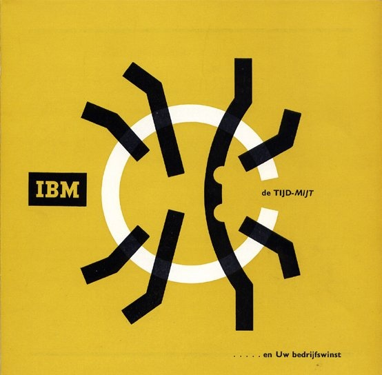 IBM de tijd-mijt ... en Uw bedrijfswinst (time-mite ... and your operating) Leaflet, IBM, 1958