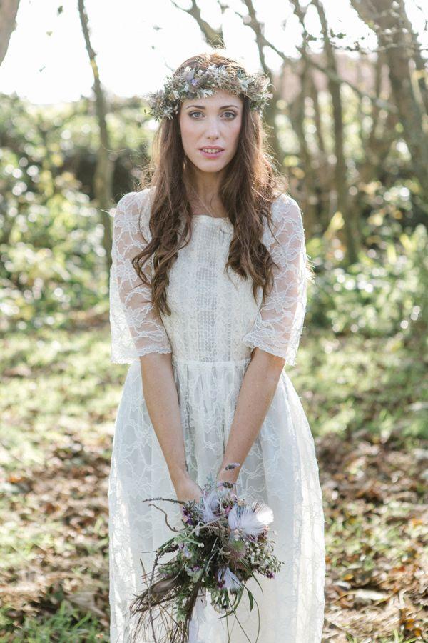 Bohemian style wedding dress uk