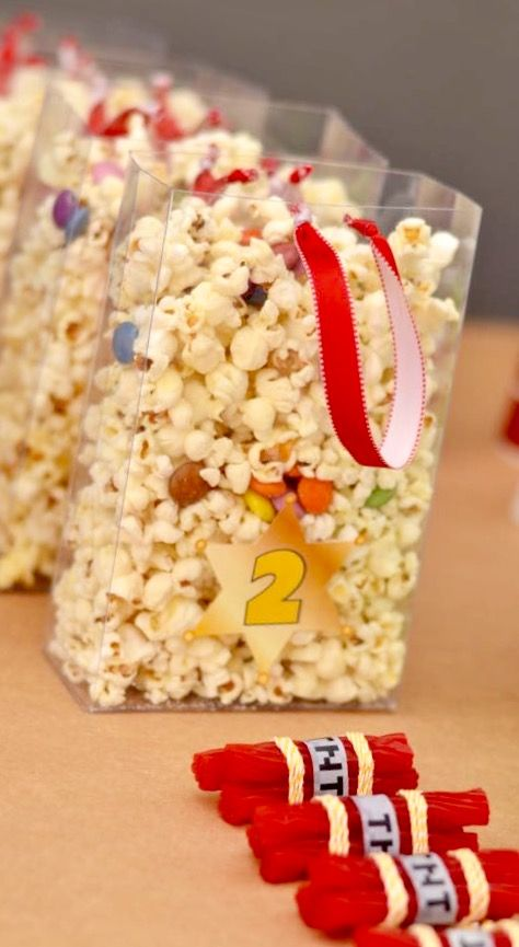 Toy Story Birthday party popcorn & licorice