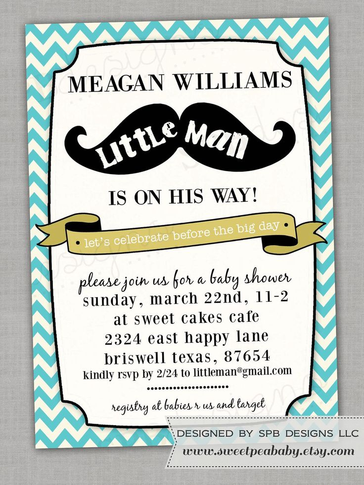 baby shower invitation little man man shower shower baby mustache baby