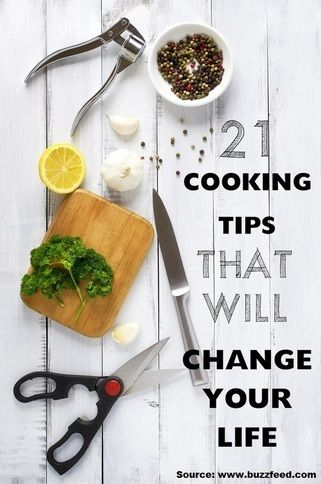 21 Cooking Tips That Will Change Your Life...For more creative tips and ideas FOLLOW https://www.facebook.com/homeandlifetips