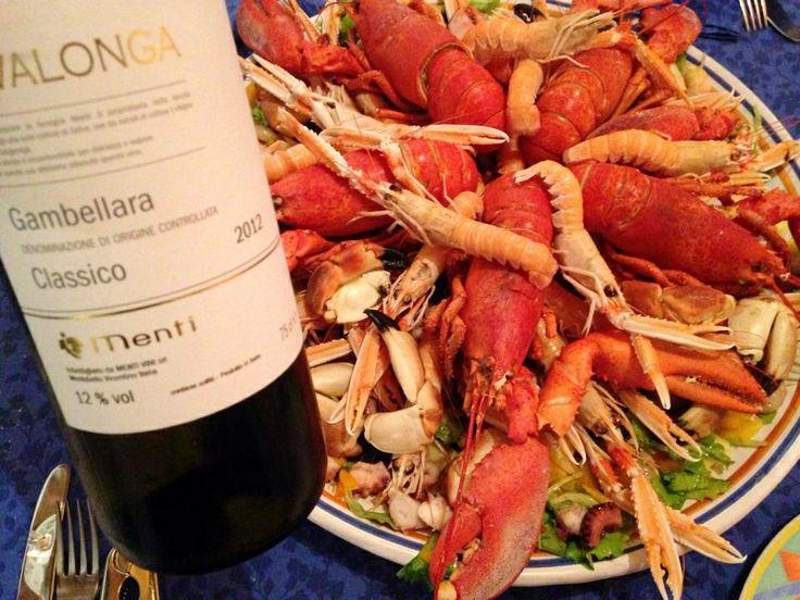 un po' di pesce. consigliato Rivalonga Gambellara DOC Classico Azienda Menti Vini www.mentivini.it