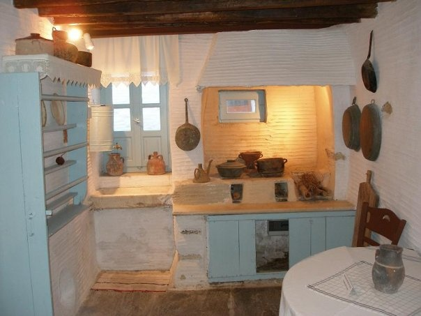 Traditional old greek style kitchen pretty rooms and for Greek kitchen designs
