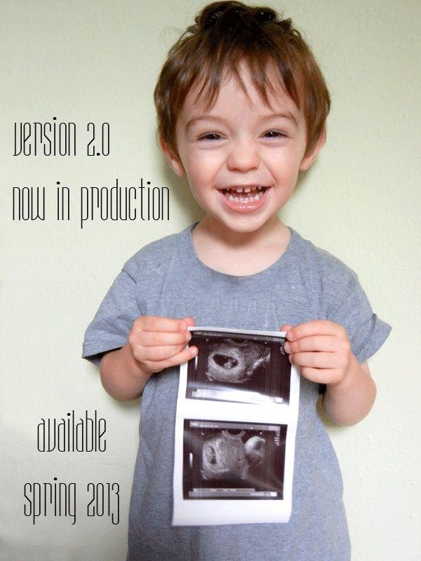 Formas originales de anunciar el #embarazo - vía Pintando una mamá