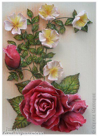 Картина панно рисунок Валентинов день Лепка С Днем Всех Влюбленных Тесто соленое фото 1