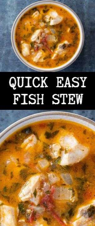 Quick Easy Fish Stew  Fast leisurely and utterly toothsome search swither! Refre…