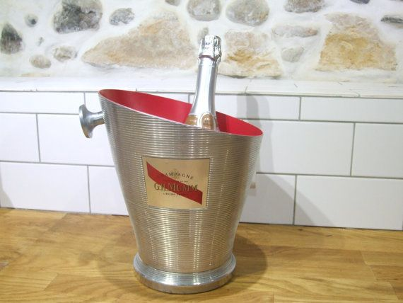 Stunning G.H.Mumm Champagne Ice Bucket // by VintageRetroOddities