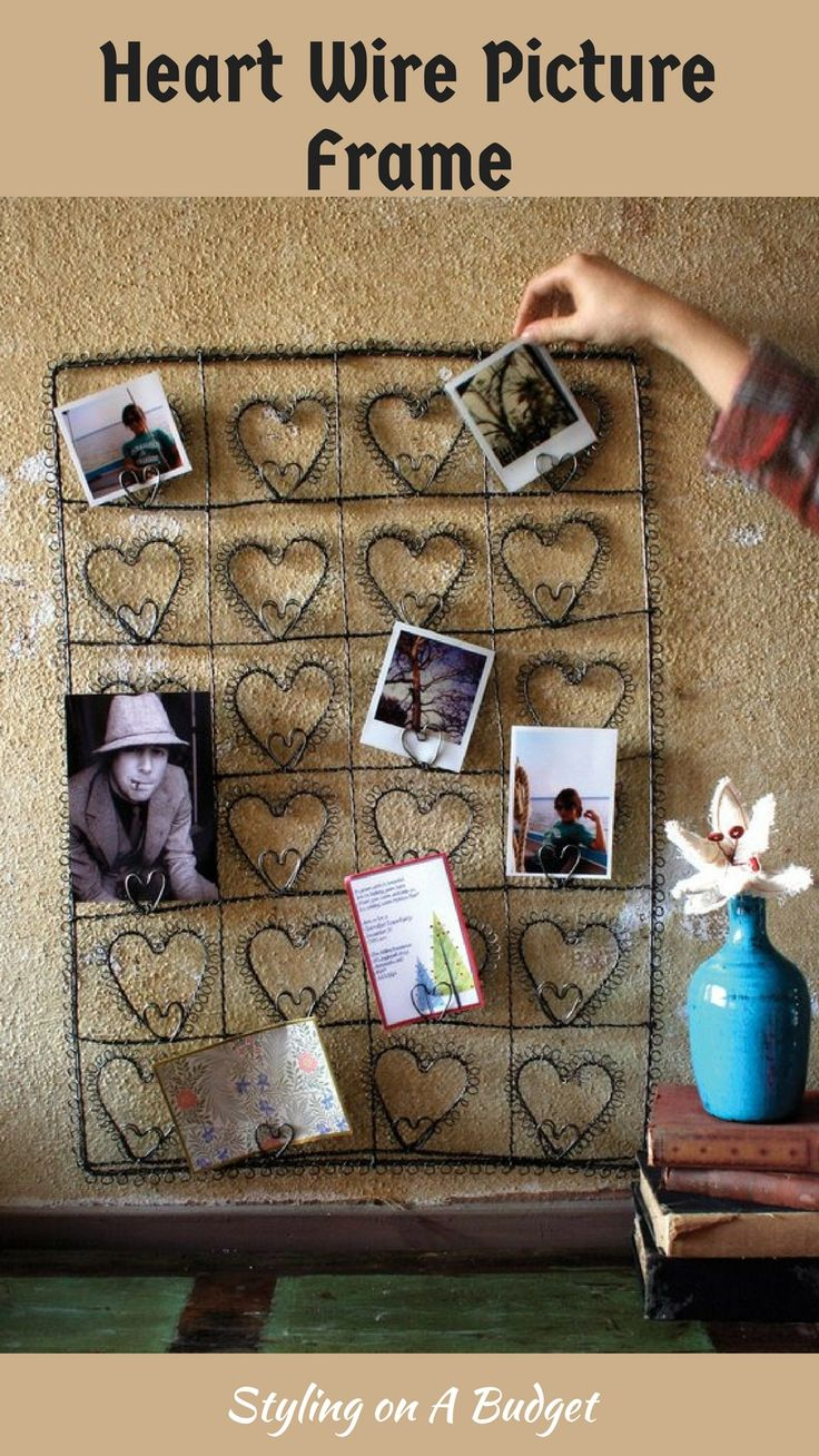 I like this 24 Heart Wire Picture Frame. #frames #rusticdecor #farmhousedecor #wallart #wireframes #ad