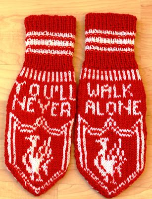 Liverpool mittens - free pattern