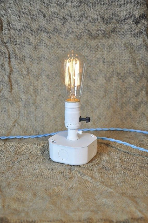 Snow White Electrical Box Table Lamp Flat White by wiresNjars