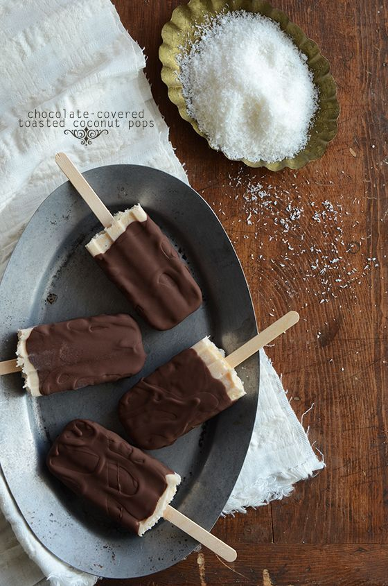 Chocolate-Covered Toasted Coconut Pops