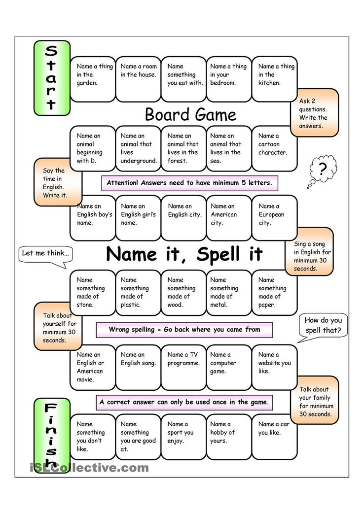 Board Game - Name it, Spell it (Easy)