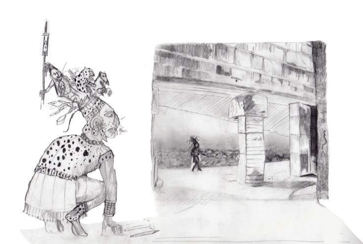 Carolyn Dee Flores - Pencil study/sketch for chapter book JAGUAR