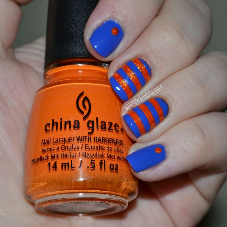 Partly Cloudy With a Chance of Lacquer: Florida Gator Nails - UF vs. LSU
