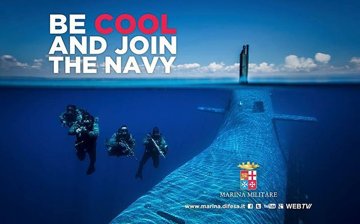 "Growing use of English in slogans such as ""Be Cool, join the Navy"" hurt pride   in the land of Dante"