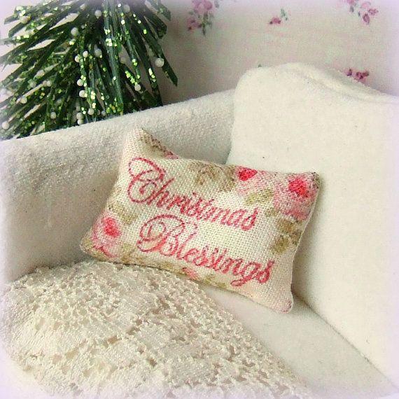 Dollhouse Miniature Christmas Blessings by sarahslilessentials, £5.00