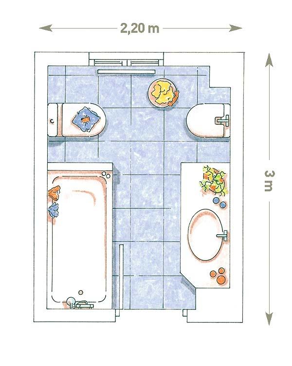 plano baño