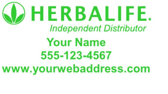 """Herbalife  Decal 12x24"""" Standard Color is Green for this decal.  For custom orders email us at melissa@imagineitvinyl.ca"""