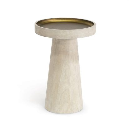ORSON SIDE TABLE, WHITE by PALECEK