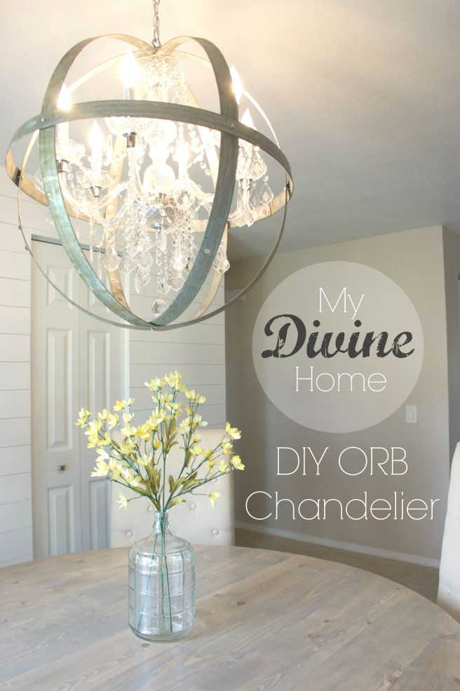 My Divine Home | DIY Orb Chandelier