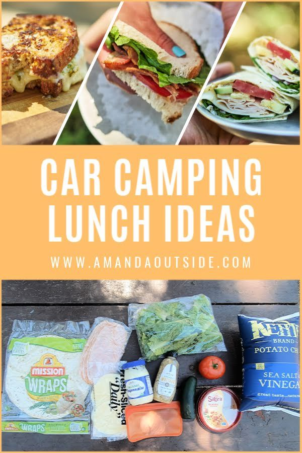 3 Easy Camping Lunch Ideas Amanda Outside Recipe Easy Camping Meals Camping Lunches Healthy Camping Food