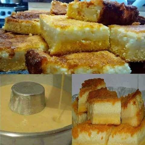 Ingredientes Rendimento: 16 pessoas Tempo: 45 minutos Massa 4 xícaras (chá) de leite 4 ovos 2 colheres (sopa) de manteiga 2 xícaras (chá) de açúcar 1 xícara (chá) de queijo parmesão ralado 1 ½ xícara (chá) de fubá 2 colheres (sopa) de farinha de trigo 1 colher (sopa) de fermento em pó Para decorar …