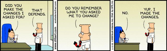Technology Management Image: Top 13 Change Management Comic Strips