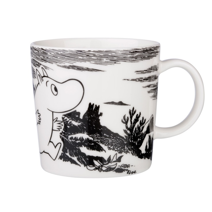 moomin cup black and white